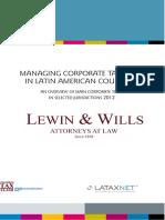 Managing Corporate Taxes in Latin America