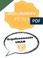 letreros UNAM para foto