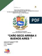 Acta Extraordinaria Del Cc de Caño Seco Arriba Sector Buenos Aires II 2019-2021