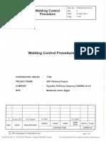 Welding Control Procedure
