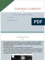Espacios Rural y Urbano