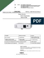 NEC NP-V332X V332W V302H Service Manual (2nd Ed)