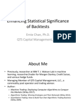 Enhancing Statistical Significance of Backtests EPCHAN