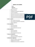 Manual de Álgebra