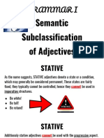 Semantic Subclassification of Adjectives