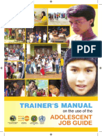 Adolescent Job Aid Manual Trainers Manual