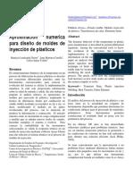 Aproximación numérica de proceso de inyección de plásticos