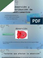 Absorcion y distribucion de mediamentos