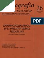 Epidemiología de las drogas