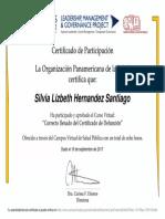 Curso Virtual Sobre El Correcto Llenado Del Certificado de Defunción, RELACSIS-Certificado de Aprobación 126924