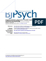 4. Cognitive Deficits in Depression- Possible Implications for Functional Neuropathology