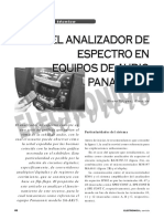 Panasonic Analizador Espectro