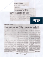 Manila Times, Aug. 15, 2019, House committee OKs tax reform bill.pdf