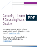 Conducting a Literature Review Constructing Research Questions-emmanuella Plakoyiannaki