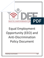 Equal Employment Opportunity EEO and Anti Discrimination Policy
