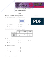 emac gold 2e year 9 ots tests ch10 statistics and probability test b
