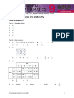 emac gold 2e year 9 ots ans ch10 statistics and probability test b