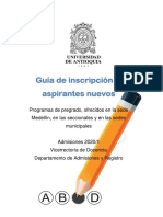inscripcion y admision udea 2020-1