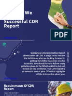 How Can We Write a Successful CDR Report