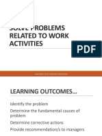 PROBLEMS RELATED TO WORK ACTIVITIES