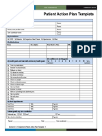 4 Patient Action Plan Template