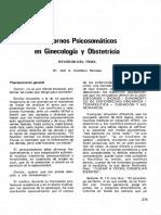 trastorno psicosomático en ginecología y obstetricia Dr Jose Aramburo.