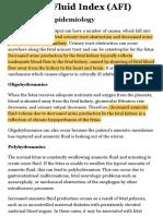 Amniotic Fluid Index (AFI) - StatPearls - NCBI Bookshelf