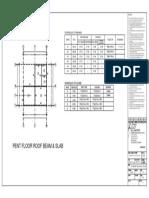 Beam layout & Schedule of Reinforcement
