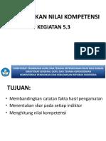 KEGIATAN 5.3 MENENTUKAN NILAI KOMPETENSI.ppt