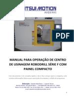 Manual Operação Robodrill Teclado Compacto Série F-10k