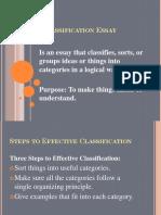 Classification Essay.ppt