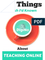 101 Things I Wish I'd Known About Teaching Online - DigiNo