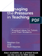 [Stephen Cox] Managing the Pressures of Teaching (BookFi.org)