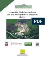 Broadway Quarry Feasibility Study 1