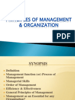 Priciples of Management