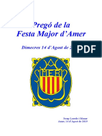 Pregó de La Festa Major d'Amer (14-8-19) - Josep Loredo i Moner