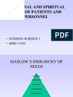 Emotional and Spiritual Needs of Patients & Personnel