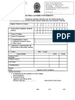 Provisional CBCSS Cerificate Application Form
