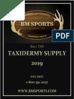 Taxidermy Supply 2019