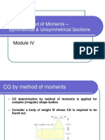CG by Method of Moments Symmetrical Unsymmetrical Sections