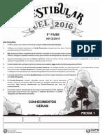Prova Tipo 1 - UEL 2016