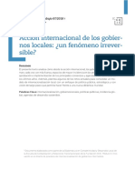 internacionalizacion de los gobiernos locales