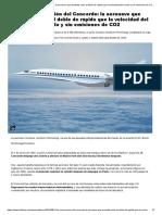 La Resurrección Del Concorde_ La Aeronave Que Promete Volar El Doble de Rápido Que La Velocidad Del Sonido y Sin Emisiones de CO2 - Infobae