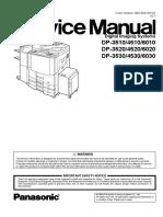 Panasonic Manual service DP 6020