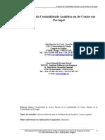O Ensino Da Contabilidade Analítica Ou de Custos Em Portugal