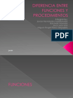 DIFERENCIA ENTRE FUNCIONES Y PROCEDIMIENTOS.ppt