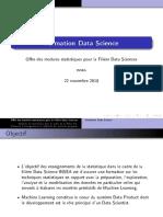 Offre Statistique Filière DS