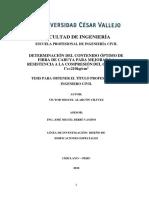 Determinacion Del Contenido Optimo de Fibra de Cabuya Para Mejorar Ls Resistencia a La Compresion Del Concreto