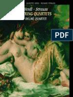 Verdi - Strauss, String quartets [booklet]