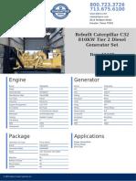 Rebuilt Caterpillar C32 810KW Tier 2 Diesel Generator Set .pdf